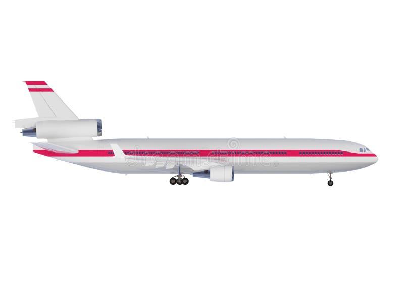 взгляд изолированный воздушными судн иллюстрация вектора