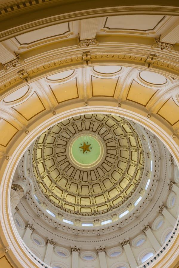 Взгляд интерьера капитолия положения Техаса расположенного в городском Остине стоковое фото