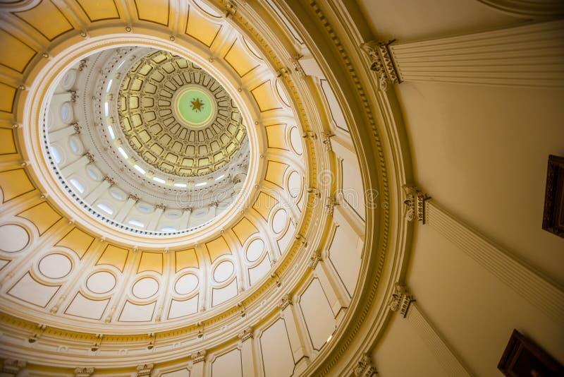 Взгляд интерьера капитолия положения Техаса расположенного в downt стоковое фото
