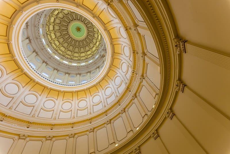 Взгляд интерьера капитолия положения Техаса расположенного в downt стоковое фото rf