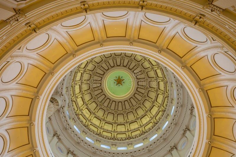 Взгляд интерьера капитолия положения Техаса расположенного в downt стоковые фотографии rf