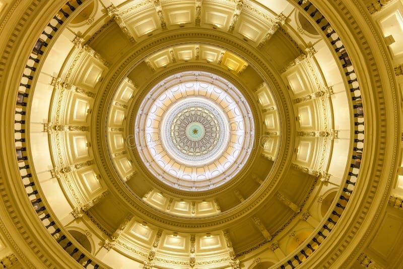 Взгляд интерьера капитолия положения Техаса расположенного в downt стоковые фото