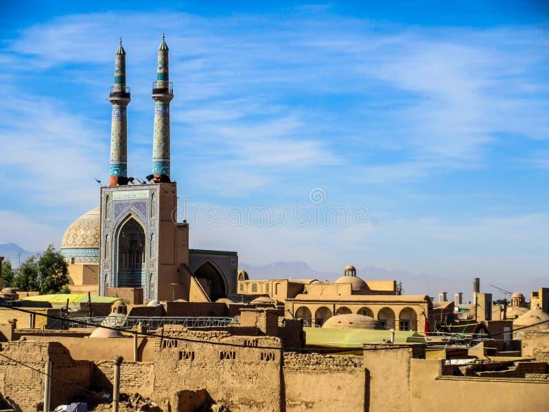 Взгляд исторического центра Yazd - Ирана стоковое изображение