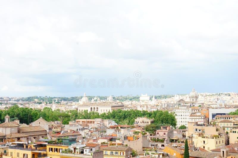 Взгляд Италии Рима панорамный стоковые фотографии rf