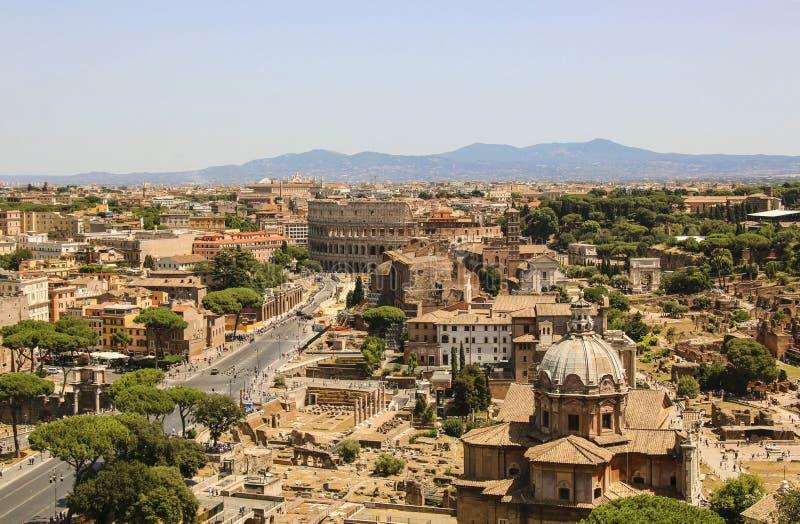 взгляд Италии rome colosseum стоковая фотография rf