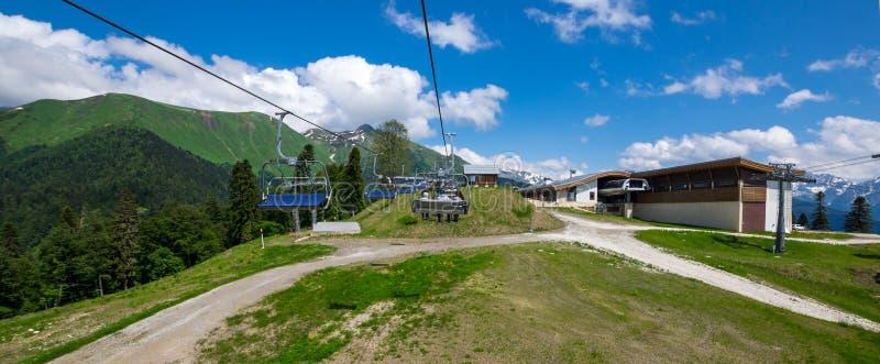 Взгляд кавказских гор стоковые фото