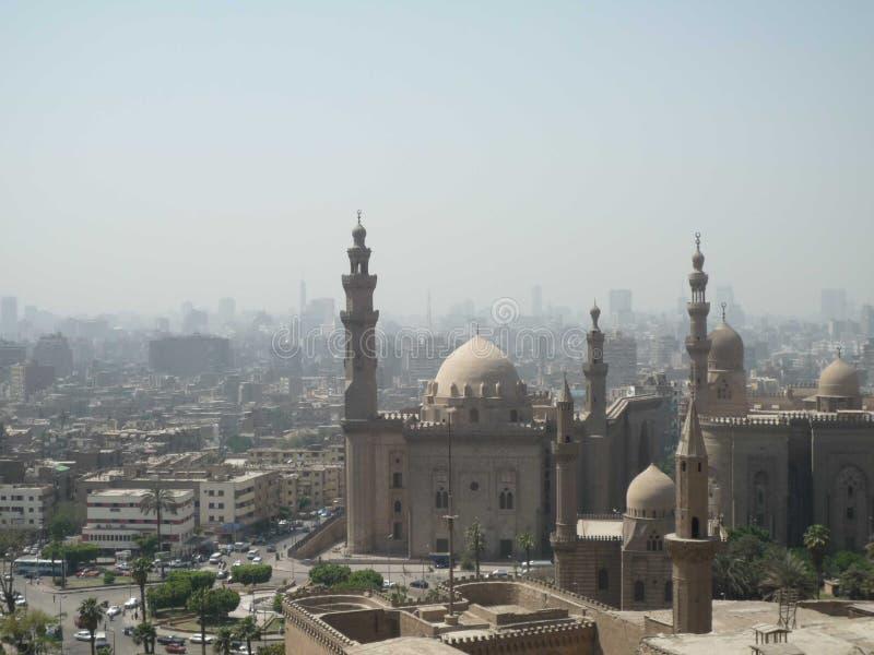 Взгляд Каира с загрязнянным воздухом стоковые фотографии rf