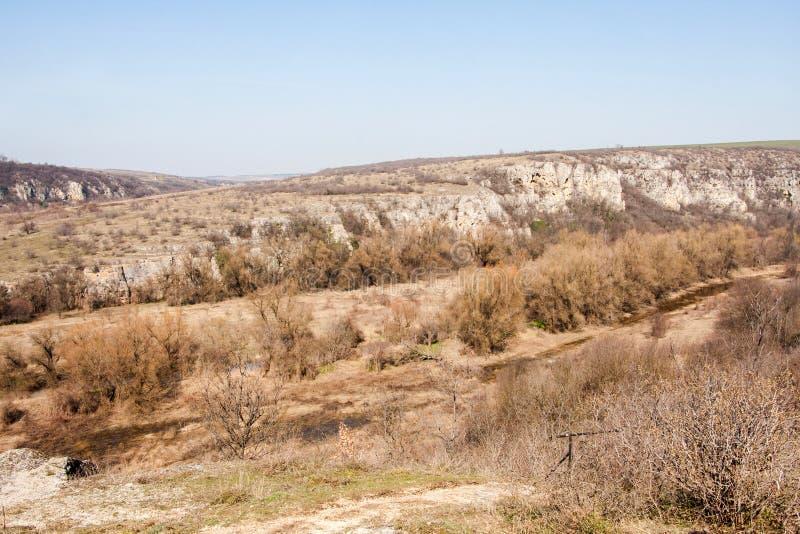 Взгляд каньона Rusenski Lom естественного около Russe, Болгарии, Европы стоковые изображения rf