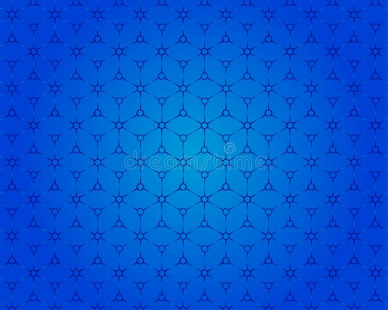 Взгляд картины 3D квадратной коробки голубая предпосылка иллюстрация вектора