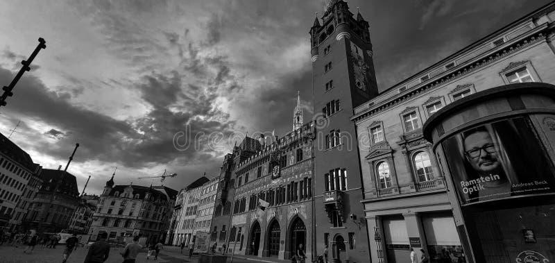 взгляд квадрата Базеля стоковые изображения