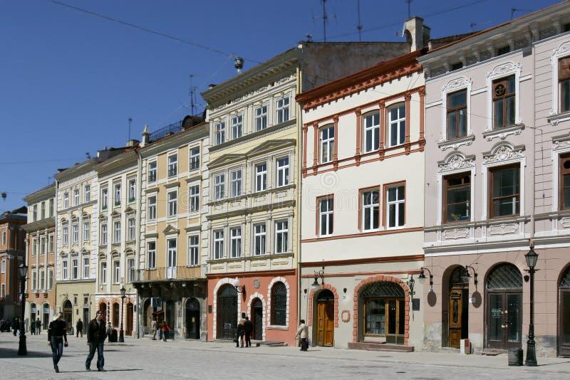 взгляд квадрата города стоковое изображение