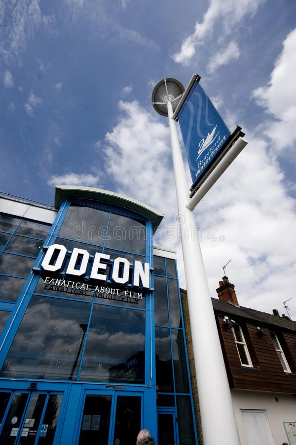 Взгляд кино Odeon и бассейна Brayford, Линкольна, Linco стоковые фотографии rf