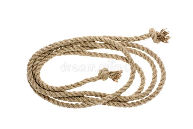 взгляд конца-вверх морской веревочки с узлами стоковая фотография