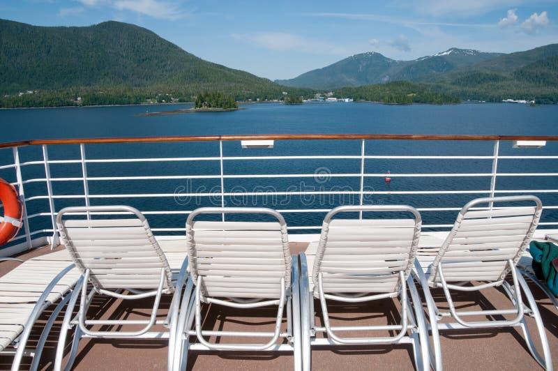 взгляд корабля палубы круиза стоковое фото rf