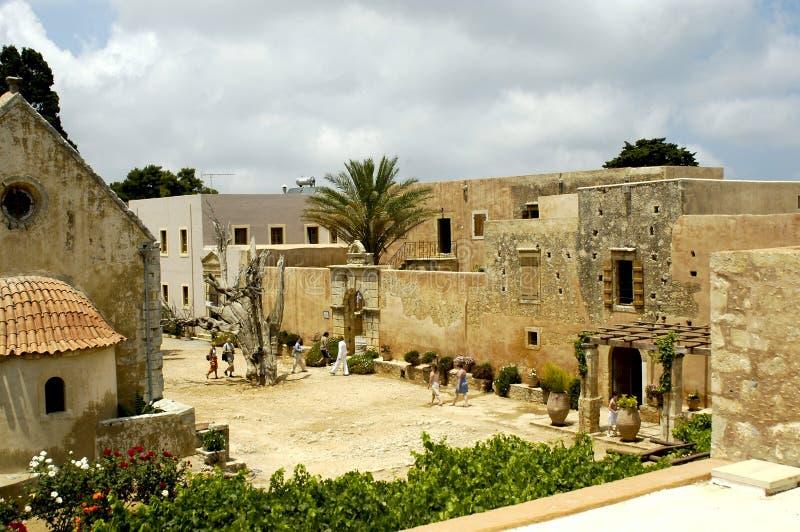 взгляд Крита монастыря arkadi стоковое фото rf