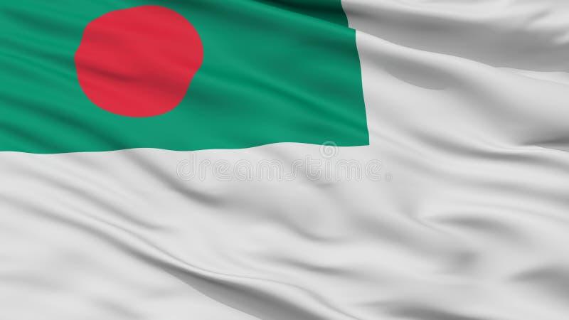 Взгляд крупного плана флага Ensign Бангладеша военноморской бесплатная иллюстрация