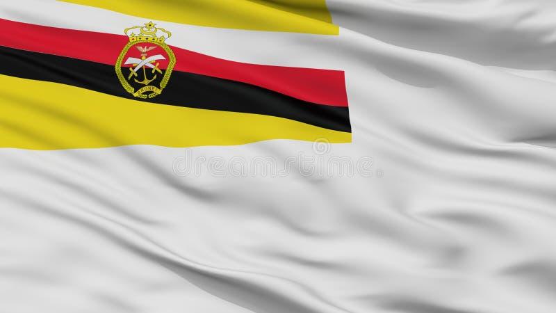 Взгляд крупного плана флага Ensign Брунея военноморской иллюстрация штока