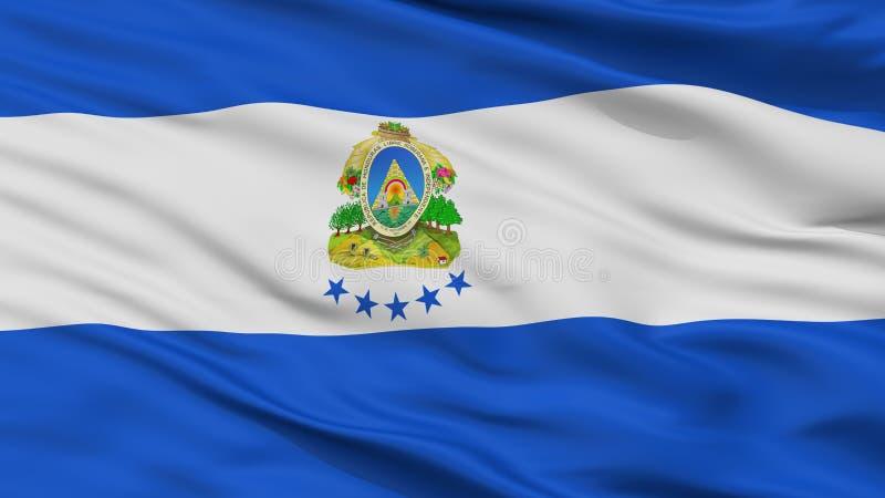 Взгляд крупного плана флага Ensign Гондураса военноморской бесплатная иллюстрация