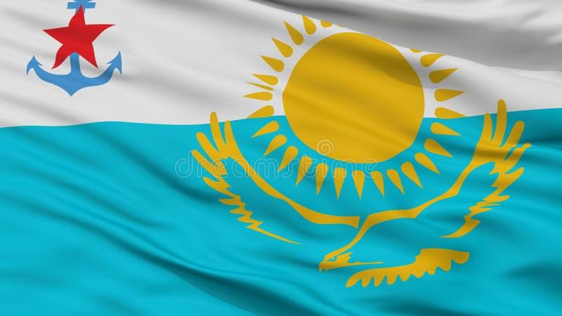 Взгляд крупного плана флага Ensign Казахстана военноморской бесплатная иллюстрация