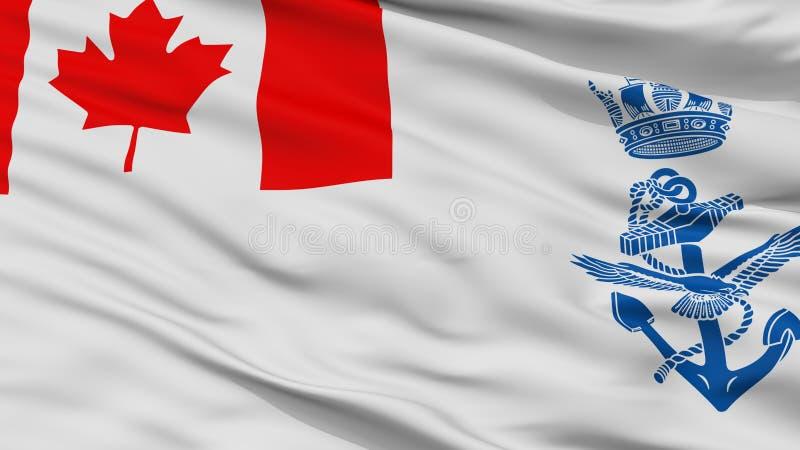 Взгляд крупного плана флага Ensign Канады военноморской иллюстрация штока