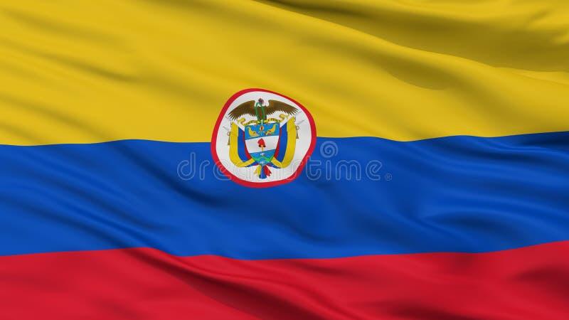 Взгляд крупного плана флага Ensign Колумбии военноморской бесплатная иллюстрация