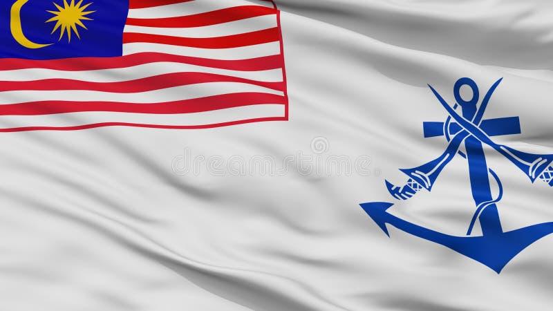Взгляд крупного плана флага Ensign Малайзии военноморской иллюстрация штока