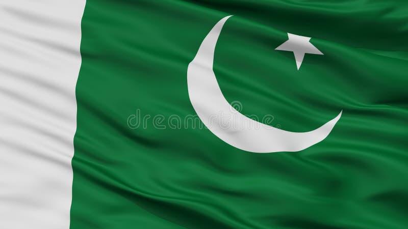 Взгляд крупного плана флага Ensign Пакистана военноморской бесплатная иллюстрация