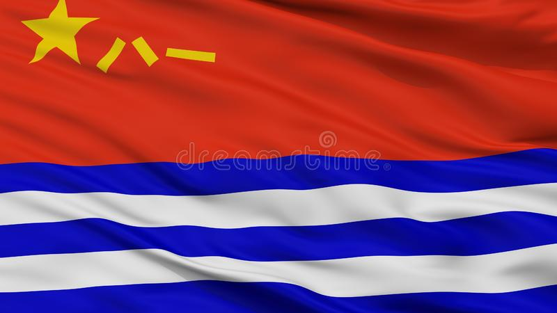 Взгляд крупного плана флага Ensign Республики людей военноморской иллюстрация вектора