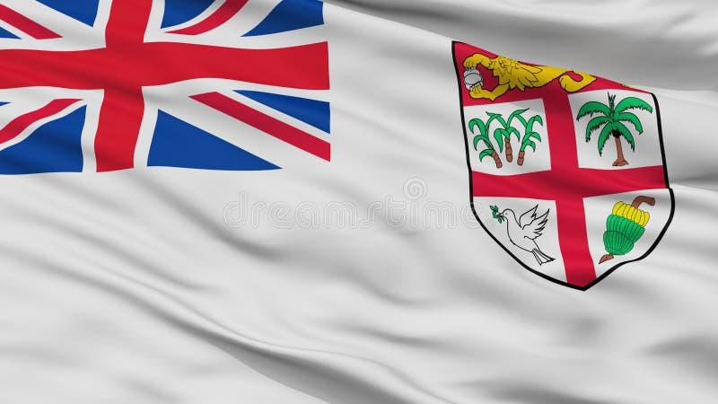 Взгляд крупного плана флага Ensign Фиджи военноморской иллюстрация вектора