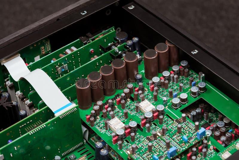 Взгляд крупного плана электронного стоковое изображение rf