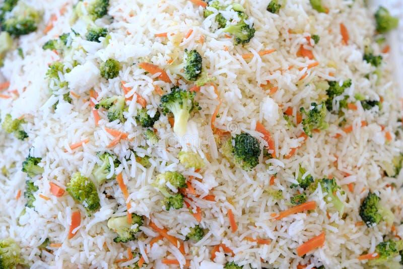Взгляд крупного плана Pulav овоща/жареные рисы овоща стоковое фото