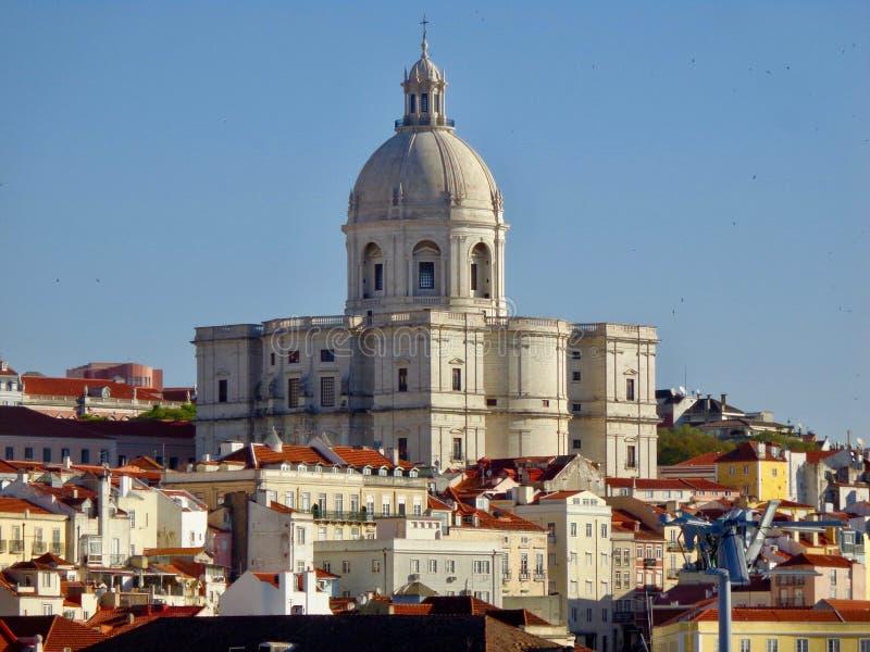 Взгляд крыши от Rua Augustus, Лиссабона стоковые изображения