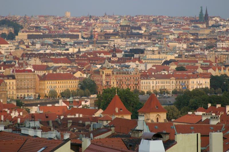 взгляд крыши Prague Стоковые Изображения RF