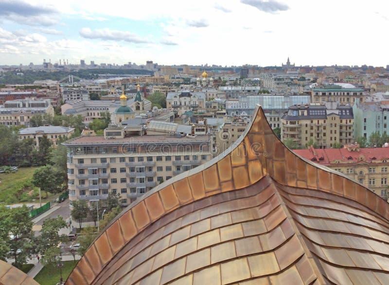 Взгляд к Москве от Христоса колокольня собора спасителя стоковое изображение rf