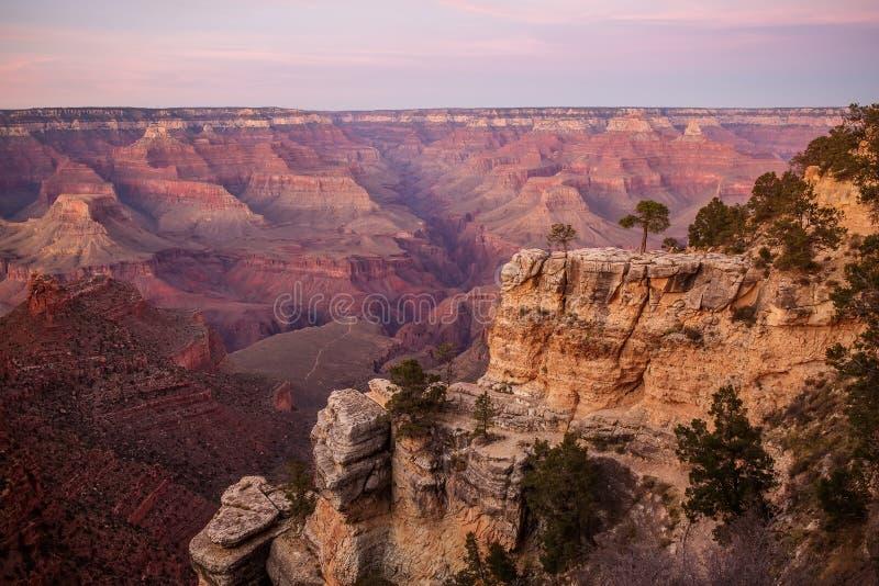 Взгляд к национальному парку гранд-каньона, южной оправе, Аризоне, США стоковые фото