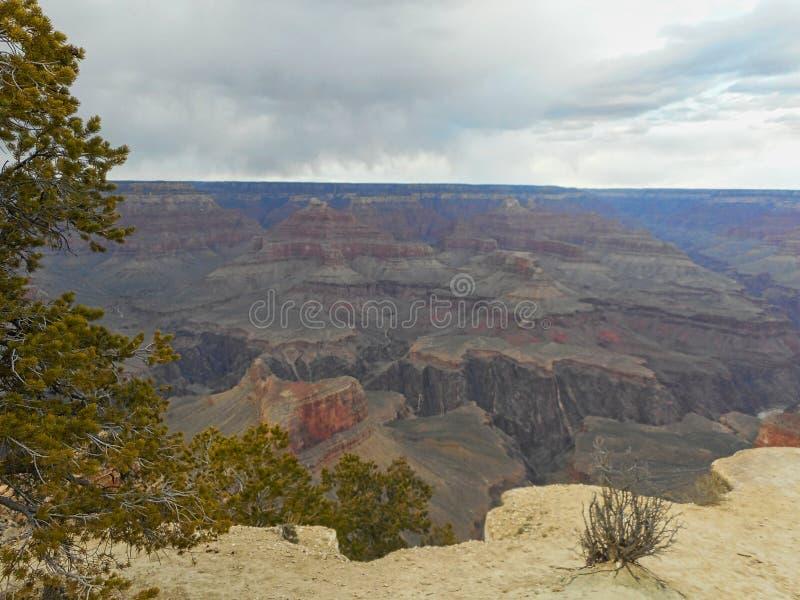 взгляд к утесам в гранд-каньоне стоковое изображение rf