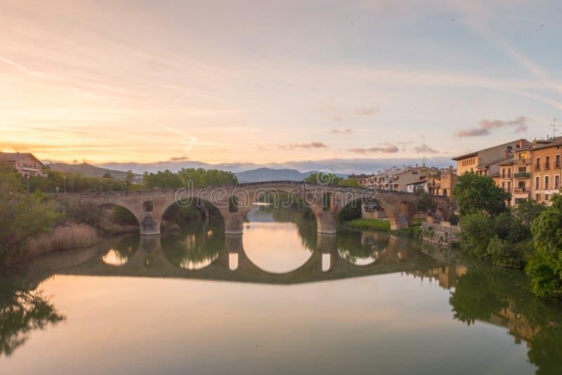 Взгляд ландшафта виноградников от замка San Vicente de Ла Sonsierra в La Rioja, Испании стоковое изображение