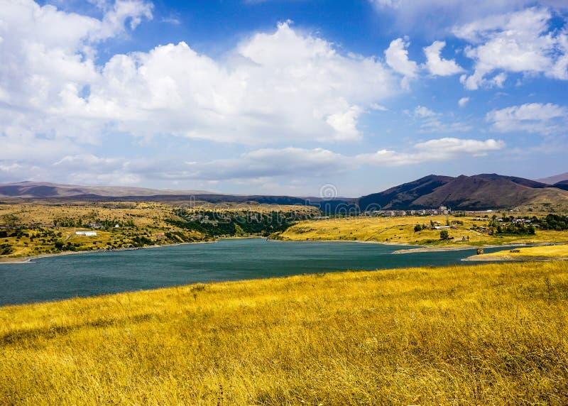 Взгляд ландшафта резервуара Kechut стоковые изображения
