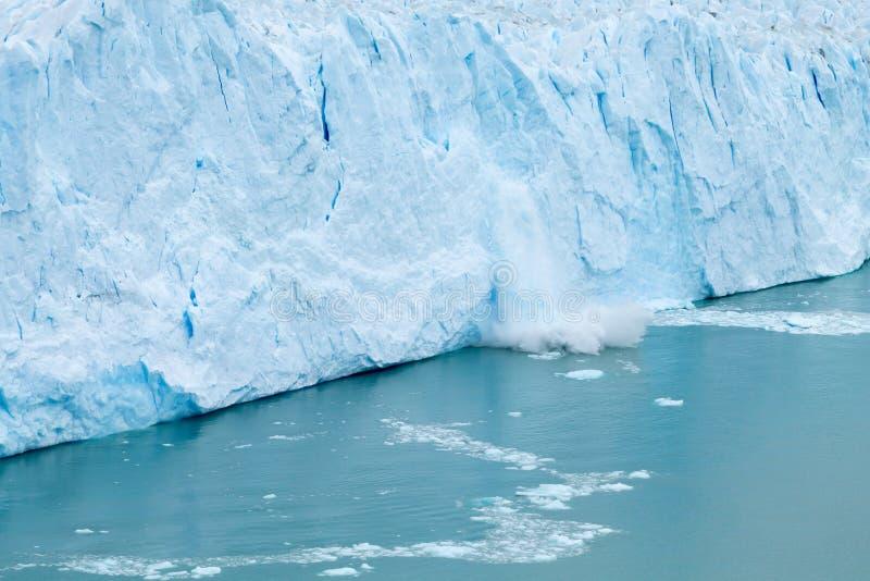 Взгляд ледника Perito Moreno, ландшафт Патагонии, Аргентина стоковые изображения rf