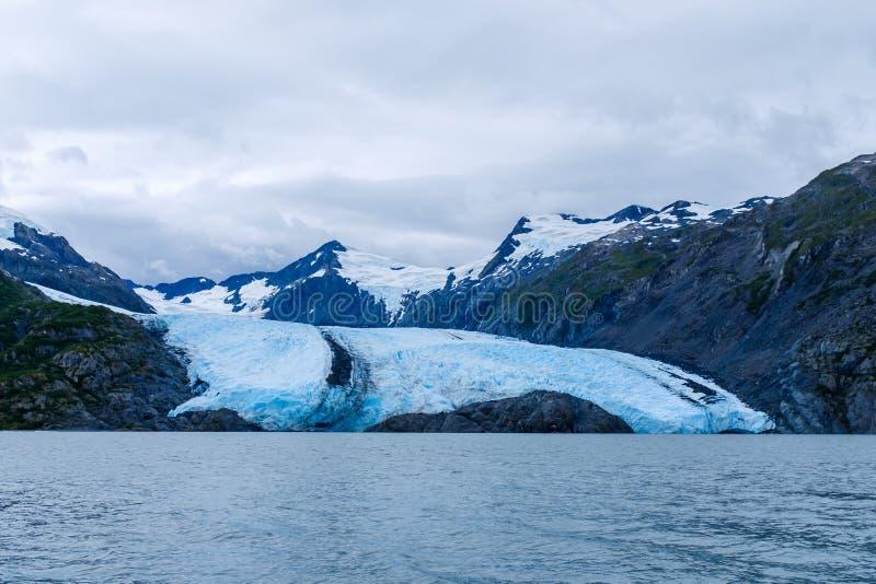 Взгляд ледника Portage в Аляске, США стоковые изображения