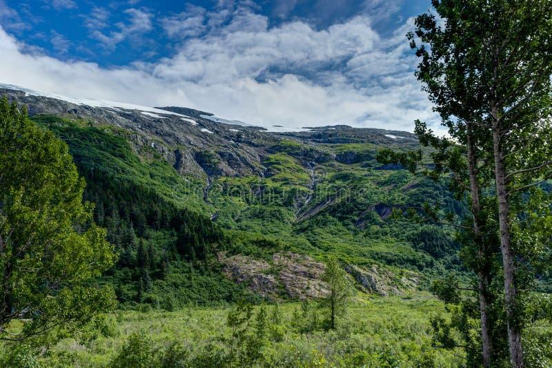 Взгляд ледника Whittier в Аляске Соединенных Штатах Америки стоковое фото rf