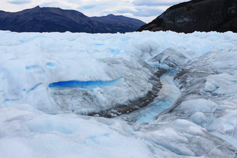 Взгляд ледникового льда Perito Moreno, Santa Cruz Calafate, Аргентина стоковое изображение