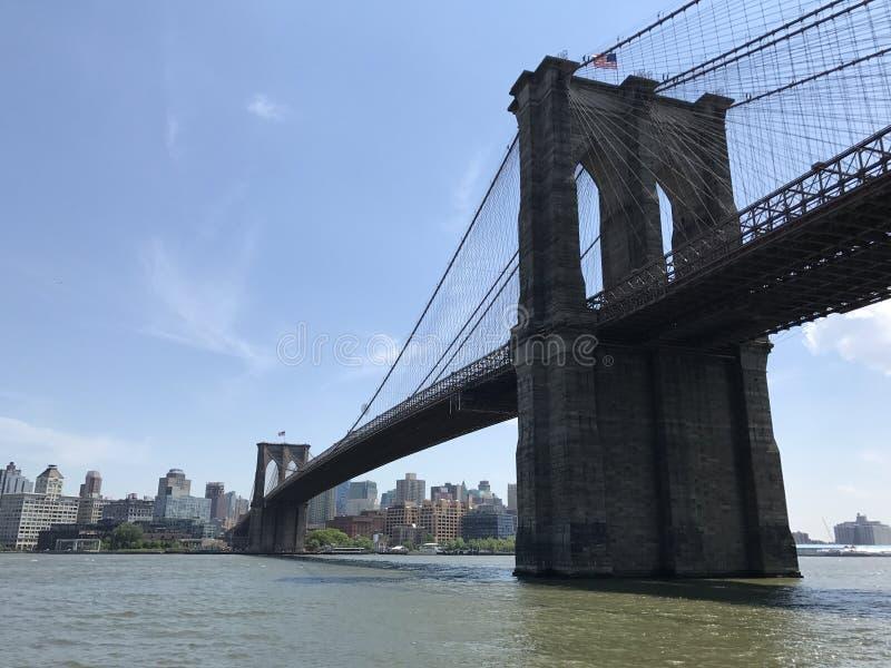 Взгляд лета Бруклинского моста Манхэттена стоковая фотография rf