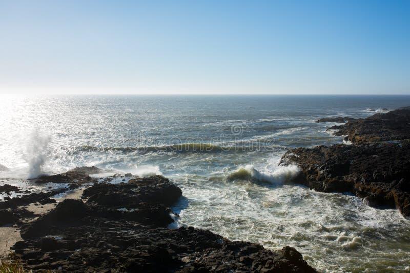 Взгляд линии побережья Орегона стоковые фотографии rf