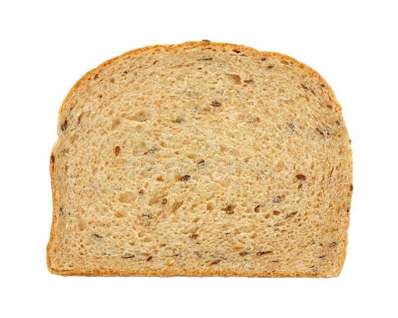 взгляд ломтика flaxseed хлеба надземный стоковое изображение
