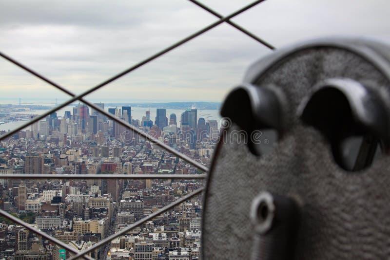 Взгляд Манхэттен стоковое фото rf