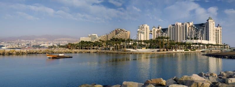 взгляд Марины Израиля eilat панорамный стоковое фото rf
