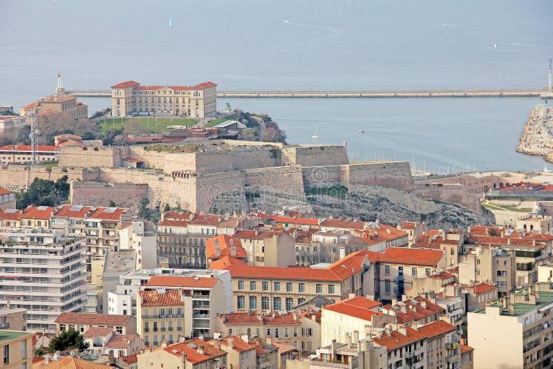 взгляд марселей форта стоковые изображения rf