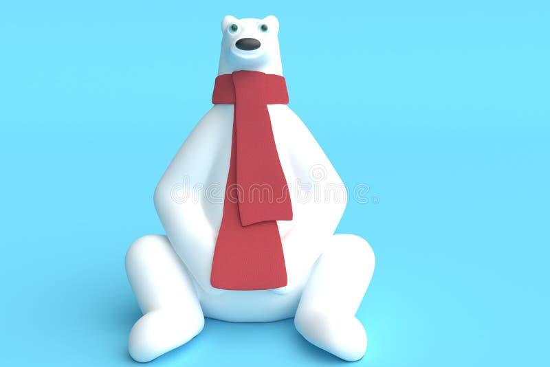 взгляд медведя приполюсный перевод 3d иллюстрация штока
