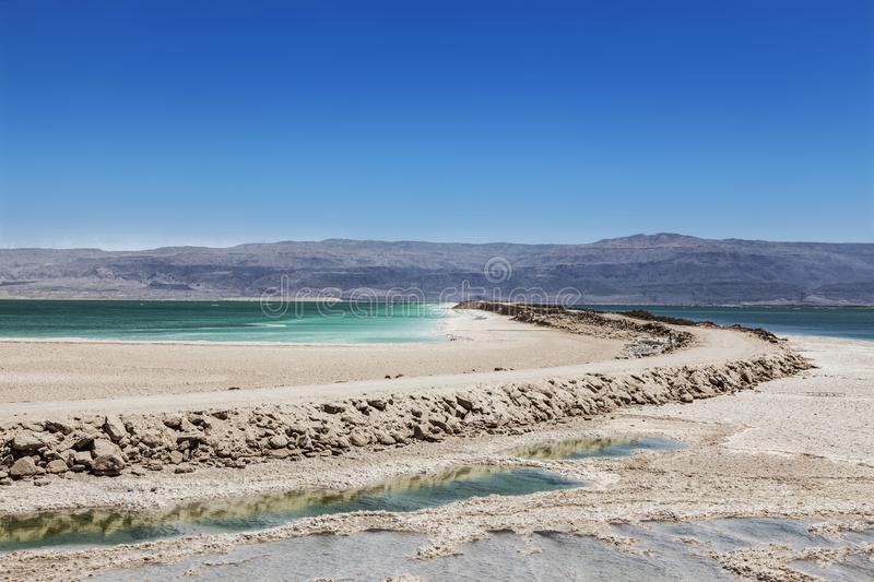 Взгляд мертвого моря от Израиля стоковое фото